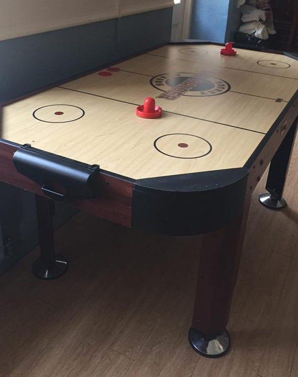 Air Hockey Hire pine table