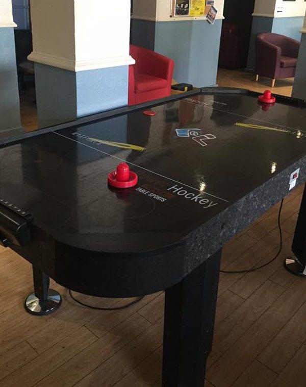Black Air Hockey Table