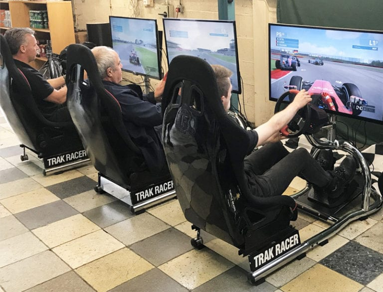 A team on Racing seats
