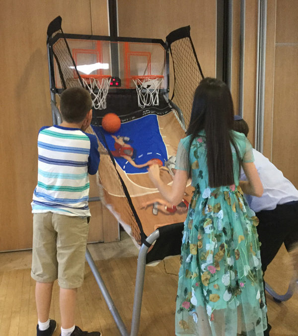 Basket Ball hire in action